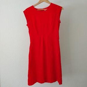 FOSSIL red sheath dress